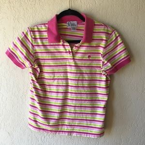 LILLY PULITZER | Golf Tennis Polo Pink/Green EUC